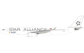 J-Fox Models 1:200 Singapore Airlines Airbus A330-300 'Star Alliance' 9V-STU (WB-A330-3-012)