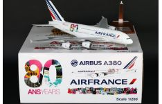 JC Wings 1:200 Air France Airbus A380-800 '80th Anniversary' F-HPJI (XX2450)