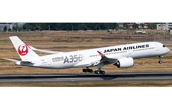 JC Wings 1:200 JAL Japan Airlines Airbus A350-900 XWB 'Silver - Flaps Down' JA02XJ (EW2359002A)