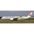 JC Wings 1:400 JAL Japan Airlines Airbus A350-900 XWB 'Green - Flaps Up' JA03XJ (EW4359003A)