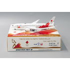 JC Wings 1:400 JAL Japan Airlines Boeing B787-800 Dreamliner 'Olympic Torch Relay - Flaps Up' JA837J (EW4788003)