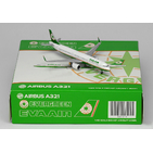 JC Wings 1:400 Eva Air Airbus A321-200SL 'Old Colours' B-16208 (XX4678)