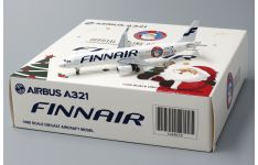 JC Wings 1:400 Finnair Airbus A321-200SL 'Offical Airline of Santa Claus' OH-LZL (LH4039)
