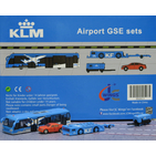 JC Wings Airport 1:200 KLM Royal Dutch Airlines Ground Support Equipment (GSE) Set #3 - Cobus, Car, Paymover w/tow bar, GPU (XX2023)