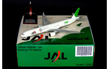 JC Wings 1:200 JAL Japan Airlines Boeing B777-300(ER) 'Sky Eco' JA731J (JC2JAL639 / XX2639)