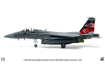 JC Wings Military 1:72 Republic of Singapore Air Force (RSAF) McDonnell Douglas F-15SG Strike Eagle 'Buccaneers' AF05-0007 (JCW-72-F15-010)