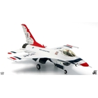 JC Wings Military 1:72 United States Air Force (USAF) Thunderbirds Lockheed F-16C Fighting Falcon, 'Thunderbird No. 1', '70th Anniversary' (JCW-72-F16-005) with Stand