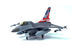 JC Wings Military 1:72 Republic of China Air Force (Taiwan) (ROCAF) Lockheed F-16B Fighting Falcon, '80th Anniversary of Sino-Japanese War', 455th Tactical Fighter Wing (TFW), Chiayi AB 6814 (JCW-72-F16-006) with Stand