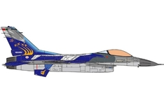 JC Wings Military 1:72 Portuguese Air Force (POAF) Lockheed F-16A Fighting Falcon, 201 Squadron '50th Anniversary', 2009 15115 (JCW-72-F16-007) with Stand