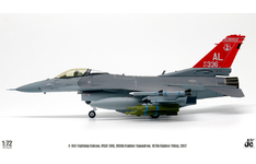 JC Wings Military 1:72 United States Air Force (USAF) Lockheed F-16C Fighting Falcon, 160th FS, 'Alabama ANG', 2017 AF87-336 (JCW-72-F16-009) with Stand