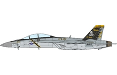 JC Wings Military 1:72 United States Navy (USN) McDonnell Douglas F/A-18F Super Hornet, VFA-103 'Jolly Rogers', 75th Anniversary AG200 / 168493 (JCW-72-F18-007) with Stand