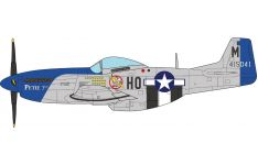 JC Wings Military 1:72 United States Air Force (USAF) North American P-51D Mustang 'Petie 3rd' 487th FS, 352nd FG, 8th AF, HO-M / 415041 (JCW-72-P51-002) with Stand