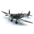 JC Wings Military 1:72 Royal Air Force (RAF) Supermarine Spitfire MK IXc 'Muscat', RAF Sawbridgeworth, June 1944, 5J-K / ML214 (JCW-72-SPF-001)