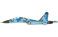 JC Wings Military 1:72 Ukrainian Air Force Sukhoi Su-27UB Flanker-C, 831st IAP, Myrhorod AB, Blue 68 (JCW-72-SU27-009) with Stand