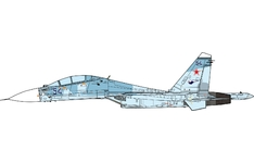 JC Wings Military 1:72 Russian Air Force Sukhoi Su-30 Flanker-C, 142nd IAP, Blue 54 (JCW-72-SU30-008) with Stand