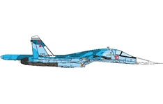 JC Wings Military 1:72 Russian Air Force Sukhoi Su-34 Fullback, Kubinka AB, Red 10 (JCW-72-SU34-003) with Stand
