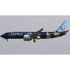 JC Wings 1:400 Jetairfly (TUI Airlines Belgium) Boeing B737-800w 'Family Life' OO-JAF (XX4681)