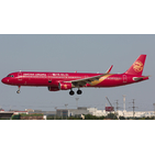 JC Wings 1:200 Juneyao Airlines Airbus A321-200SL 'All Red' B-1808 (LH2179)