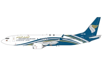 JC Wings 1:200 Oman Air Boeing B737-800 MAX A4O-MB (LH2OMA123 / LH2123)