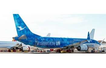 JC Wings 1:400 Xiamen Airlines Boeing B737-800 MAX 'United Nations GOALS' B-20CP (JC4CXA455 / XX4455)