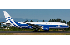 JC Wings 1:200 AirBridgeCargo Boeing B777-200(LRF) 'Delivery - Flaps Up' VQ-BAO (XX20054)