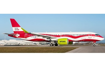 JC Wings 1:200 Air Baltic Airbus A220-300 'Latvia 100' YL-CSL (JC2BTI259 / XX2259)