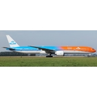 JC Wings 1:200 KLM Royal Dutch Airlines Boeing B777-300(ER) 'Orange Pride - 100 Years - Flaps Down' PH-BVA (XX2321A)