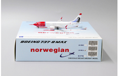 JC Wings 1:400 Norwegian Air Shuttle Boeing B737-800 MAX 'Oscar Wilde' LN-BKA (XX4151)