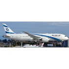 JC Wings 1:400 El Al Israel Airlines Boeing B787-800 Dreamliner 'Delivery - Flaps Up' 4X-ERA (XX4247)