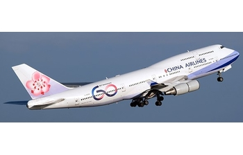 JC Wings 1:400 China Airlines Boeing B747-400 '60th Anniversary - Flaps Down' B-18210 (JC4CAL462A / XX4462A)