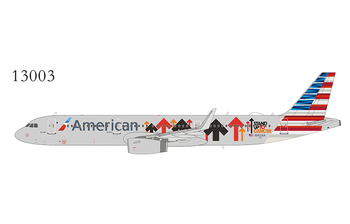 NG Model 1:400 American Airlines Airbus A321-200S 'Stand up to Cancer' N162AA (NG13003)