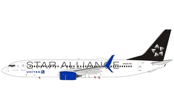 NG Model 1:400 United Airlines Boeing B737-800S 'Star Alliance' N14219 (NG58062)
