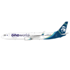 NG Model 1:400 Alaska Airlines Boeing B737-900(ER)S 'OneWorld' N487AS (NG79001)