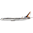 Phoenix Models 1:400 Royal Thai Air Force (RTAF) Boeing B737-800w BBJ2 HS-TYS (PH11672)